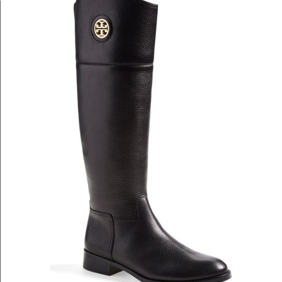 1f7aba86d6a1 Tory Burch Junction Riding Boots Extended Calf. M 5ab1806a5512fdd7ae424bdf